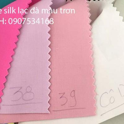 Vải kate silk màu trơn may đồng phục áo sơ mi công sở