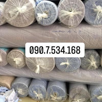Vải kate caro sọc Đà Nẵng